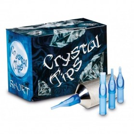 CRYSTAL SHORT TIPS 50PCS ROUND 15