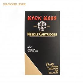 MAGIC MOON CARTRIDGE 07RL DIAMOND BUGPIN LINER 20PCS