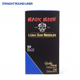 MAGIC MOON NEEDLES 14RL STRAIGHT ROUND LINER 50PCS