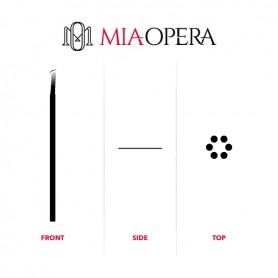 MIAOPERA DISPOSABLE MICROBLADING BLADES 10PCS - 0,30MM SLOPE ROUND SR19
